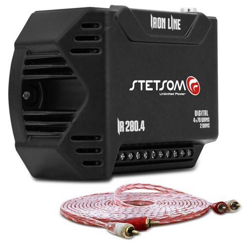 Modulo-Amplificador-Stetsom-Iron-Line-IR280.4-280W-RMS-2-Ohms-4-Canais---Cabo-RCA-Stetsom-5m-connect-parts--1-