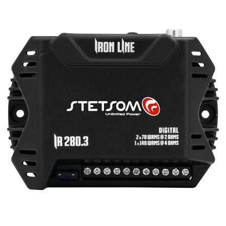 Modulo-Amplificador-Stetsom-Iron-Line-IR280.3-280W-RMS-3-Canais-2-Ohms---Cabo-RCA-4mm-5-Metros-connect-parts--1-