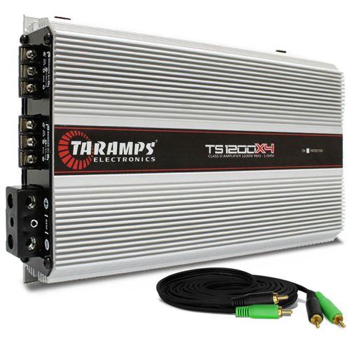 Modulo-Amplificador-Taramps-TS1200X4-1200W-RMS-01-Ohm-4-Canais---Cabo-RCA-4mm-5-Metros-connect-parts--1-