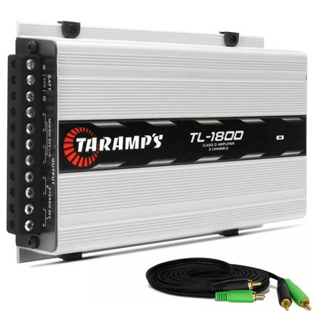 Modulo-Amplificador-Taramps-TL1800-530W-RMS-2-Ohms-3-Canais---Cabo-RCA-4mm-5-Metros-connect-parts--1-