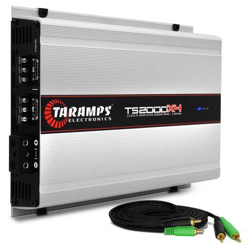 Modulo-Amplificador-Taramps-TS2000X4-2000W-RMS-2-Ohms-4-Canais---Cabo-RCA-4mm-5-Metros-connect-parts--1-