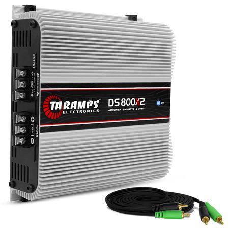 Modulo-Amplificador-Taramps-DS800x2-800W-RMS-2-Ohms-2-Canais---Cabo-RCA-4mm-5-Metros-connect-parts--1-