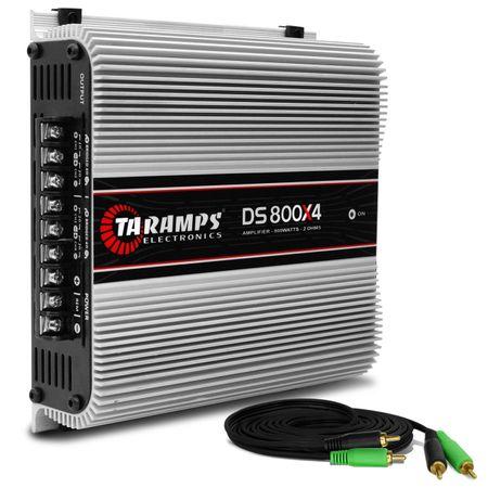 Modulo-Amplificador-Taramps-DS800x4-800W-RMS-2-Ohms-4-Canais---Cabo-RCA-4mm-5-Metros-connect-parts--1-