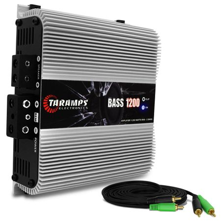 Modulo-Amplificador-Taramps-Bass-1200-1200W-RMS-1-Canal-2-Ohms---Cabo-RCA-4mm-5-Metros-connect-parts--1-