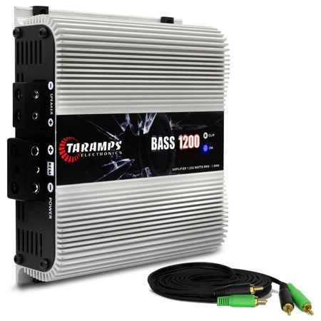 Modulo-Amplificador-Taramps-Bass-1200-1200W-RMS-1-Ohm-1-Canal---Cabo-RCA-4mm-5-Metros-connect-parts--1-