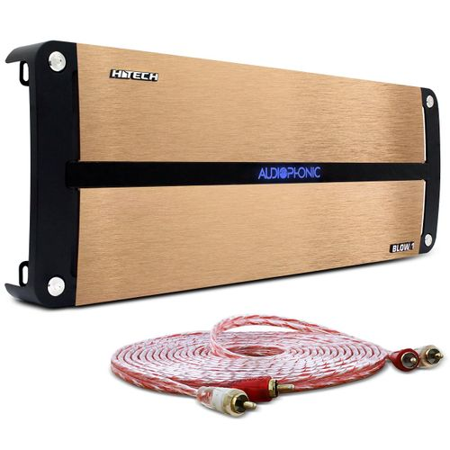 Modulo-Amplificador-Audiophonic-H-Tech-Blow-One-2000W-RMS-1-Canal-1-Ohm---Cabo-RCA-Stetsom-5m-connect-parts--1-
