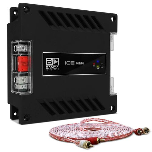 Modulo-Amplificador-Banda-Ice-1202-1200W-RMS-1-Canal-2-Ohms---Cabo-RCA-Stetsom-5m-connect-parts--1-