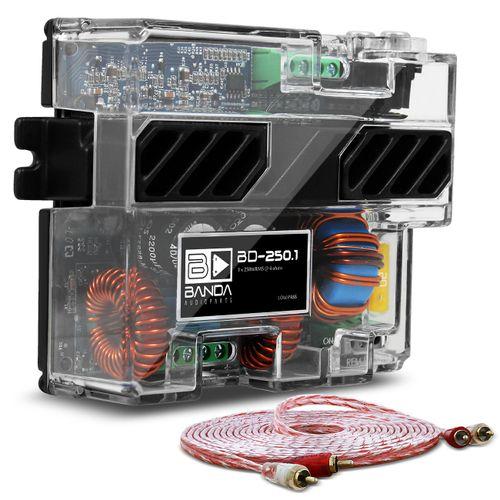Modulo-Amplificador-Banda-BD250.1-250W-RMS-1-Canal-4-Ohms---Cabo-RCA-Stetsom-5m-connect-parts--1-