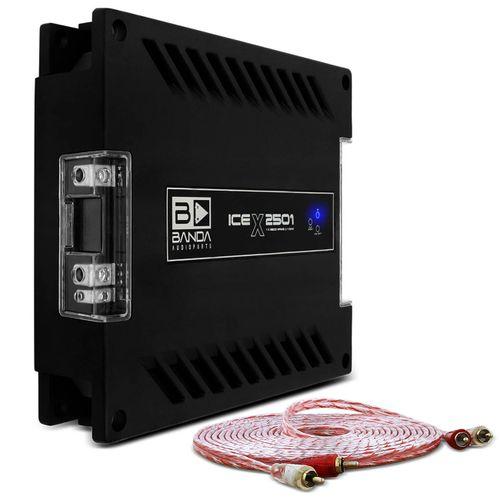 Modulo-Amplificador-Banda-Ice-X-2501-2500W-RMS-1-Canal-1-Ohm---Cabo-RCA-Stetsom-5m-connect-parts--1-