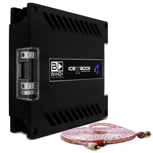 Modulo-Amplificador-Banda-Ice-X-3002-3000W-RMS-1-Canal-2-Ohms---Cabo-RCA-Stetsom-5m-connect-parts--1-