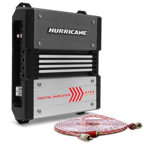 Modulo-Amplificador-Hurricane-H-1.8K-1800W-RMS-1-Canal-2-Ohms---Cabo-RCA-Stetsom-5m-connect-parts--1-