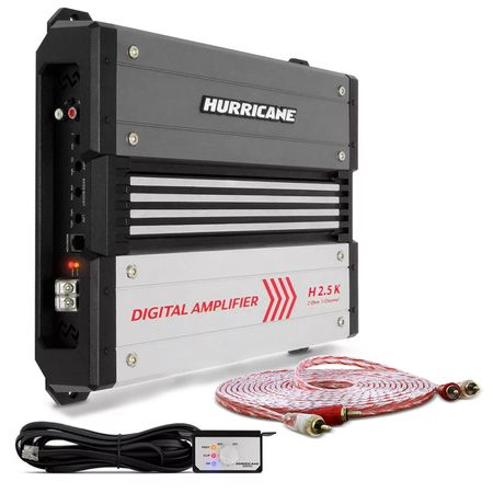 Modulo-Amplificador-Hurricane-H-2.5K-2500W-RMS-1-Canal-2-Ohms---Cabo-RCA-Stetsom-5m-connect-parts--1-