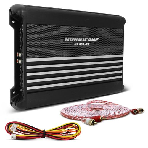 Modulo-Amplificador-Hurricane-HA-480.4S-1920W-RMS-4-Canais-2-Ohms---Cabo-RCA-Stetsom-5m-connect-parts--1-