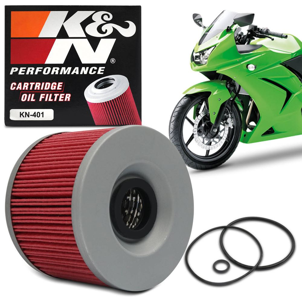 Refil Do Filtro De óleo Kn Kn 401 Kawasaki Connect Parts