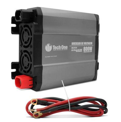 Inversor de Voltagem Tech One 800W 12V para 110V com USB Transformador  Conversor de Potência d6b5e22d92