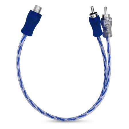 Cabo-Y-Techone-2-Machos-1-Femea-4mm-Plug-Metal-Injetado-Azul-Prata-Transparente-connectparts--1-