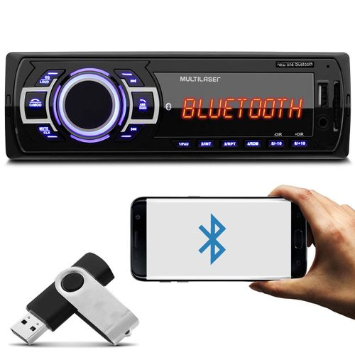 MP3-Player-Automotivo-Multilaser-New-One-Bluetooth-P3319-1-Din-USB-SD-AUX-MP3-FM-RMS-Pen-Drive-8GB-connectparts--1-