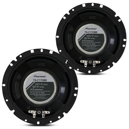 KIT-2-Vias-Pioneer-TS-C170BR-Woofer-6-Pol-60W-RMS---Crossover---Tweeter-connectparts--1-