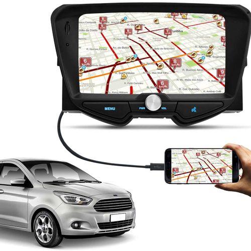 Central Multimidia Ford Ka Hatch Sedan   Bluetooth Touch Espelhamento Android Ios