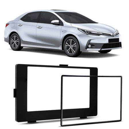 Moldura-Do-Painel-2-Din-Corolla-2018-Japones-Chines-Preto-Fosco-connectparts--1-