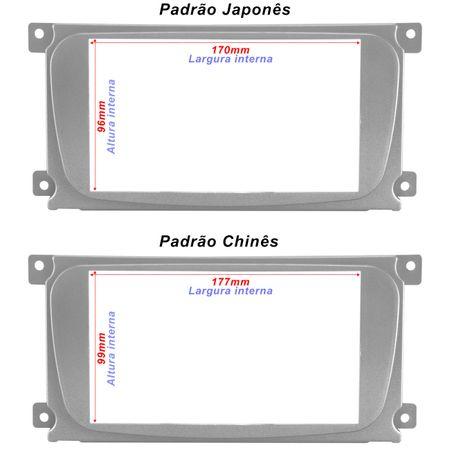 Moldura-2-Din-Citroen-C3--03-12--Peugeot-307--0112--Japones-Chines-Preta-connectparts--1-