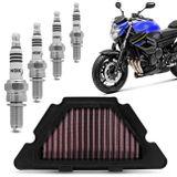 Filtro-de-Ar-Esportivo-KN-Yamaha-Xj6-YA-6009---4-Velas-de-Iridium-NGK-XJ6-2010-a-2018-CR9EIX-connect-parts--1-