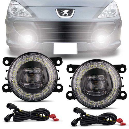 Par-Farol-de-Milha-3-LEDs-DRL-Anel-Peugeot-307-2006-2007-2008-2009-2010-Auxiliar-Neblina-connectparts--1-