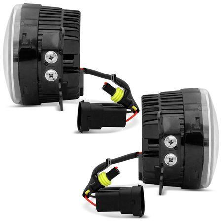 Par-Farol-de-Milha-3-LEDs-DRL-Peugeot-307-2006-2007-2008-2009-2010-Auxiliar-Neblina-connectparts--3-