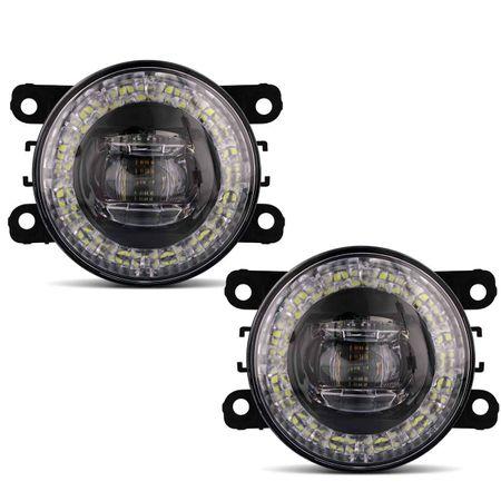 Par-Farol-de-Milha-3-LEDs-DRL-Anel-Citroen-C5-2005-2006-2007-Auxiliar-Neblina-connectparts--2-