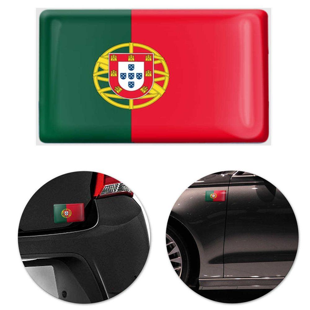 3b4af90084 Adesivo Resinado Poliéster Bandeira de Portugal 9cm Aplicação em Verso  Autocolante
