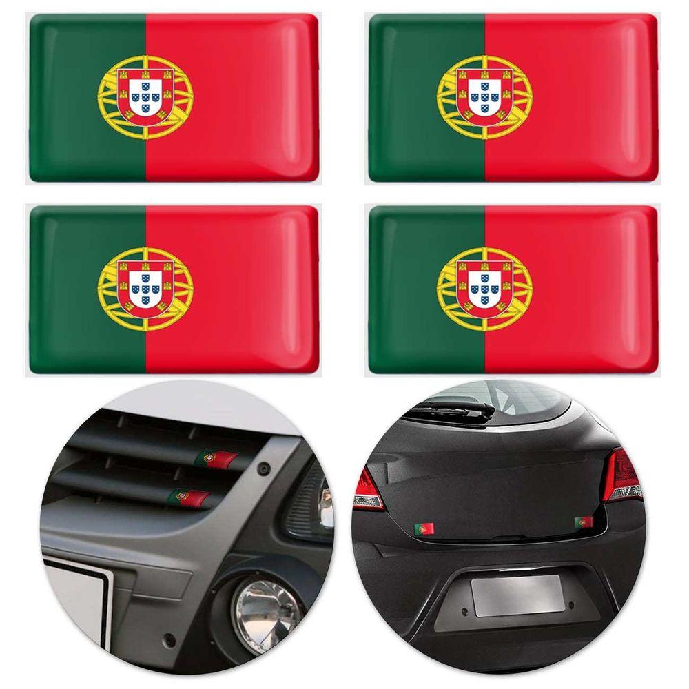 Jogo de Adesivo Resinado Poliéster Bandeira de Portugal 4 006a80bb0f86a