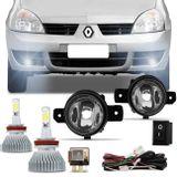 Kit-Farol-de-Milha-Clio-03-a-12-Auxiliar-Neblina---Par-Super-LED-Headlight-H11-6000K-6400LM-connect-parts--1-