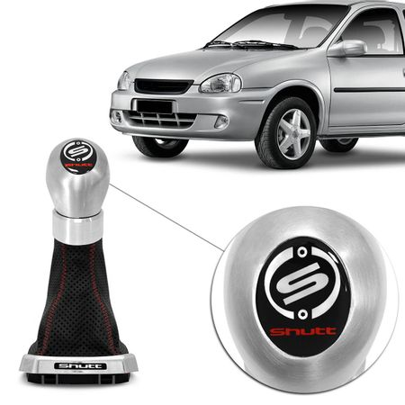 Kit-Coifa-Cambio-Shutt-Corsa-Classic-Hatch-95-a-10-Preta-Base-Cromada---Manopla-Orbitt-G1-Escovado-Connect-Parts--1-