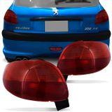 fa8d6d701ca Lanterna Traseira Peugeot 206 1998 1999 2000 2001 2002 2003 Vermelho Rubi