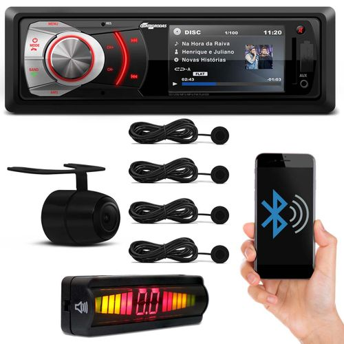 MP4-MP5-Player-Quatro-Rodas-Bluetooth-radio-fm-USB-SD-AUX-MTC6610---Camera-re-2X1---Sensor-Preto-Connect-Parts--1-