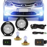 Kit-Farol-de-Milha-Etios-Hatch-Sedan-12-13-14-15-16-Botao-Cinza-e-Preto-com-Lampada-H16-8500K-Connect-Parts--1-