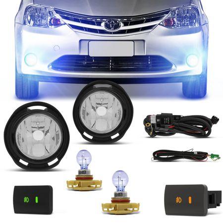 Kit-Farol-de-Milha-Etios-Hatch-Sedan-12-13-14-15-16-Botao-Cinza-e-Preto-com-Lampada-H16-8500K-Connect-Parts--1-