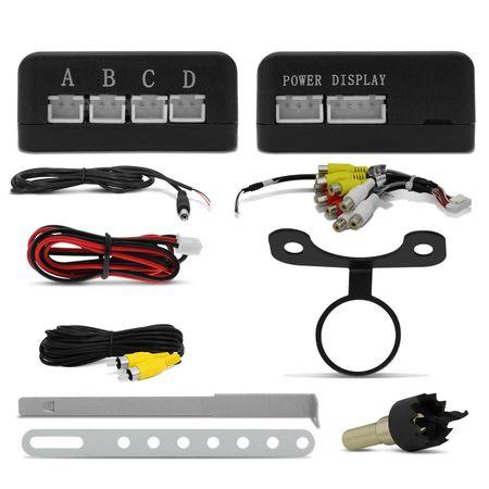 DVD-Player-Shutt-Detroit-7-Pol---Sensor-Estacionamento-Re-4-Sensores-Branco---Camera-de-Re-Connect-Parts--4-