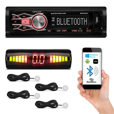 MP3-Player-Automotivo-Shutt-Montana-BT---Sensor-Estacionamento-Re-4-Sensores-Branco-Connect-Parts--1-