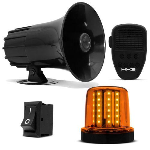 Sirene-Automotiva-Tech-One-7-Tons---Giroled-Luz-Emergencia-54-LEDs-1224V-Connect-Parts--1-