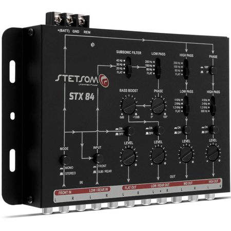 Mesa-Crossover-Stetsom-STX84-4-Canais---2-Cabos-RCA-Simples-Tech-One-1-Metro-connect-parts--2-