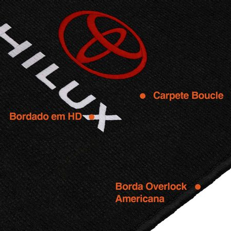 Jogo-Tapete-Premuim-12-Mm-Bucle-Hilux-2005-A-2012-Preto-Bordado-No-Centro-connectparts--1-