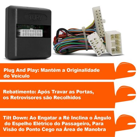 Modulo-Rebatimento-e-Assistente-de-Manobra-Retrovisores-Tury-PARK-3.0.1-L-Plug-Play-Ranger-13-a-18-connectparts---2-