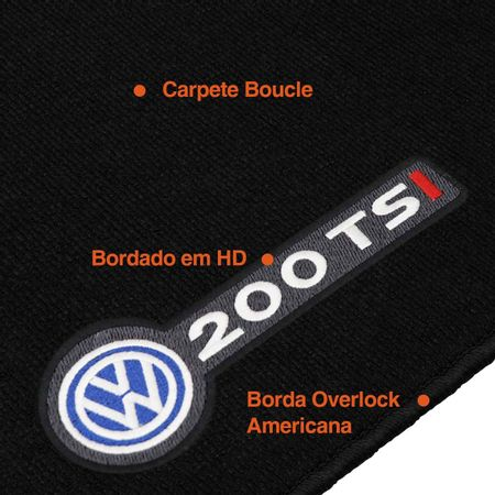 Tapete-Carpete-Premium-Novo-Polo-200-TSI-2018-Preto-12mm-Bordado-HD-4-Pecas-Boucle-connectparts---3-