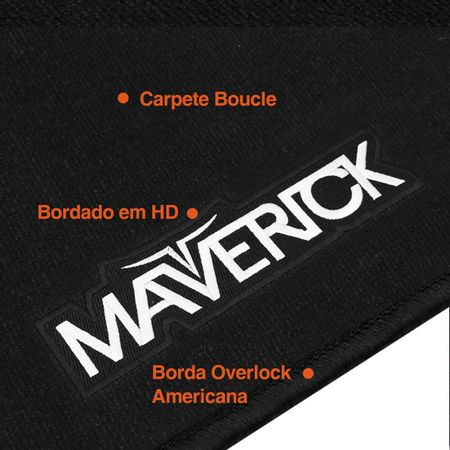 Tapete-Carpete-Premium-Maverick-1973-a-1979-Preto-12mm-Bordado-HD-4-Pecas-Boucle-connectparts---1-