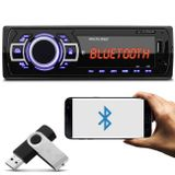 MP3-Player-Automotivo-Multilaser-New-One-Bluetooth-P3319-1-Din-USB-SD-AUX-MP3-FM---Pendrive-8-Gb-connectparts---1-
