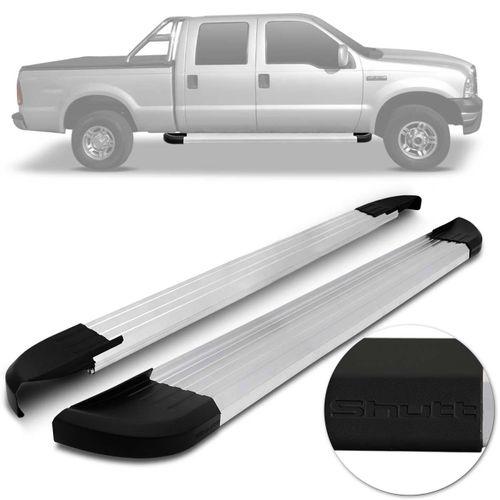 Par-Estribos-Laterais-Shutt-Ford-F-250-1999-a-11-Cabine-Dupla-Prata-Ponteira-Preta-Modelo-Original-connectparts---1-