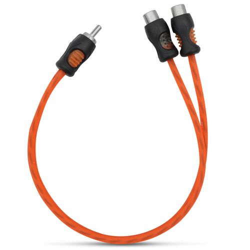 Cabo-Y-Rca-Kx3-Flexivel-Laranja-2-Femeas-1-Macho-4Mm-Dupla-Blindagem-connectparts---1-