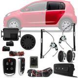 Kit-Vidro-Eletrico-Vw-Up-2014-a-2018-Traseiro-Sensorizado---Alarme-Automotivo-Positron-PX360-BT-Parts---1-