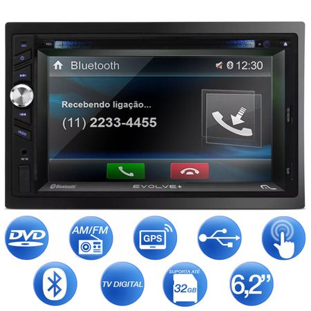 DVD-Player-Automotivo-Multilaser-Evolve--GP043-2-Din-62-Pol-Bluetooth-GPS-TV-USB-MP3-Espelhamento-connectparts--1-